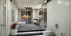«Многокомнатная» ванная с подиумом и зональным разграничением: дизайнер Екатерина Попова