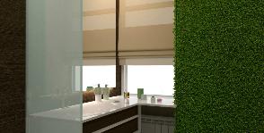 Лаконичная ванная комната с фитостеной: дизайнер Ольга Лагодная