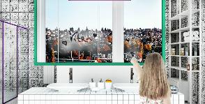 «Невесомый» интерьер для ванной комнаты в европейских апартаментах: дизайнер Екатерина Захарова