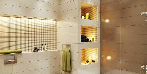 Уютная ванная комната в оттенках осени для романтической пары: дизайнер Ольга Гриневич
