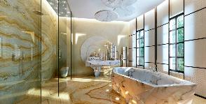 Ванная в центре Манхэттена: дизайнеры Андрей Силаев и Оксана Юрьева