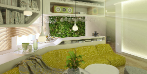 Как использовать комнатные растения в современном интерьере: дизайн-проект Ксении Бражинской