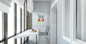 Кухня и лоджия: дизайнер Ольга Сирук