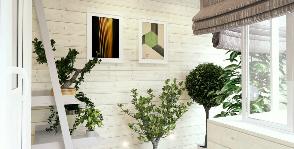 Маленькая лоджия в типовой квартире: дизайнер Нэлли Левина