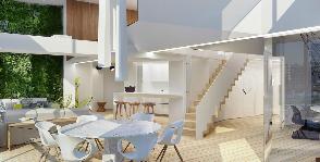 Загородный дом с искусственным озеленением внутри: дизайн студии Art Gluck