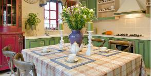 Интерьер кухни в стиле прованс: дизайнер Инесса Терновая