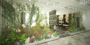 Квартира-сад в восточном стиле со световыми стеклянными потолками: дизайнер Rado Di