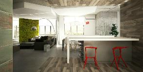 Интерьер с «зеленой стеной»: дизайнерское бюро MAKE design