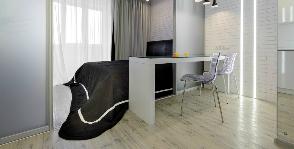Чистый расчет: спальня, кухня и кабинет на 29 метрах