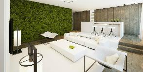 Зеленый и свежий. 3d моделирование квартиры: архитектурное бюро UNKproject