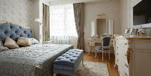 Спальня в светлых тонах: дизайнер Наталья Немова