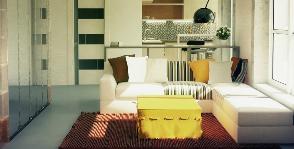 Небольшая квартира для молодого человека: дизайнер Алена Ковалева