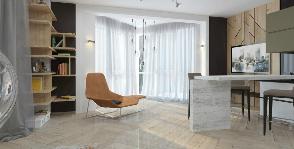 Большая квартира-студия для активного молодого человека: дизайнер Нина Воронянская