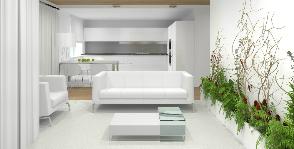 Белый интерьер гостиной: проект Анны Верещагиной