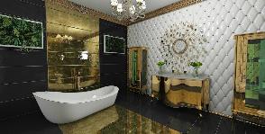 Ванная комната в стиле ар-деко: проект Анжелики Андрейченко