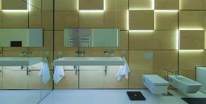 Ванная комната с управляемым освещением: дизайнер Иван Юрыма