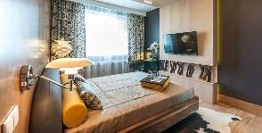 Спальня на 14 «квадратах»: теплый Север в скандинавском стиле