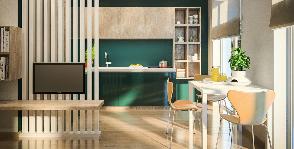 Бюджетный интерьер квартиры в 47 квадратных метров: сила цвета