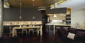 Кухня с барным столом: дизайнер Александр Бурыкин