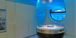 «Шаровая кухня» в столовой-гостиной: дизайнер Виталий Дорохов