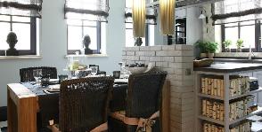 Интерьер столовой комнаты: дизайнер Илона Меньшакова