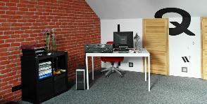 Рабочий кабинет в мансарде: дизайнер Елена Савченко