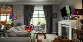 Интересный интерьер гостиной: дизайнер Виктория Буденкова