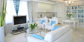 Гостиная в квартире в Сочи: дизайнер Анна Шемуратова