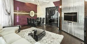 Гостиная со сложной геометрией: дизайнер Полина Лебедева