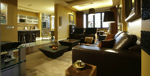 Гостиная в желтом цвете: дизайнер Карина Аветисян
