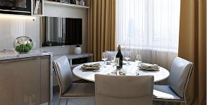 Как нестандартно разместить кухонную зону на маленьком метраже?