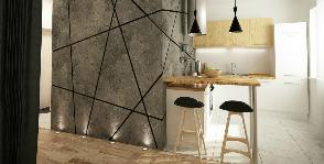 Брутальный интерьер в типовой квартире