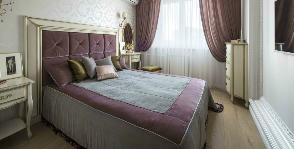 Спальня для молодоженов: оттенки фиолетового