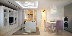 Квартира для молодой пары: компактно, светло, уютно