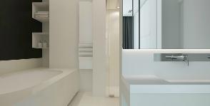 Белая ванная с камином: триумф романтики и свободы
