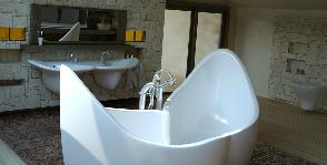 Роскошный чердак: ванная в мансарде