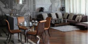 «Джентльменская» роскошь в интерьере гостиной: студия Палладио-Проджект
