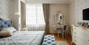 Интерьер спальни в светлых тонах: дизайнер Наталья Немова