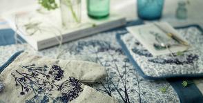 Helgi Home расшивает скатерти укропом