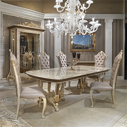 Baroque dining table + chairs