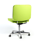 SLIM MEETING CHAIR WITH CASTORS