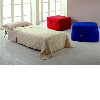 Пуф-диван Pouff Letto.  Спальня Ulisse Desk.  Пуф-трансформер - раскладывается в односпальную кровать с латексным...