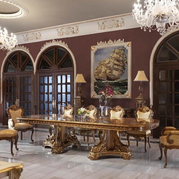 Gold dining table - на 360.ru: цены, описание, характеристики, где купить в Москве.