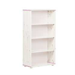 Flexa bookcase with three shelves white