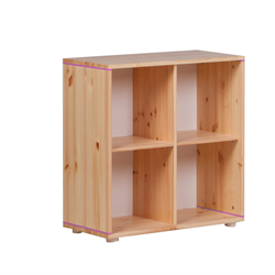 Flexa bookcase with four compartments