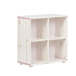 Flexa bookcase with four compartments white