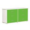 Flexa chest with six green drawers - на 360.ru: цены, описание, характеристики, где купить в Москве.