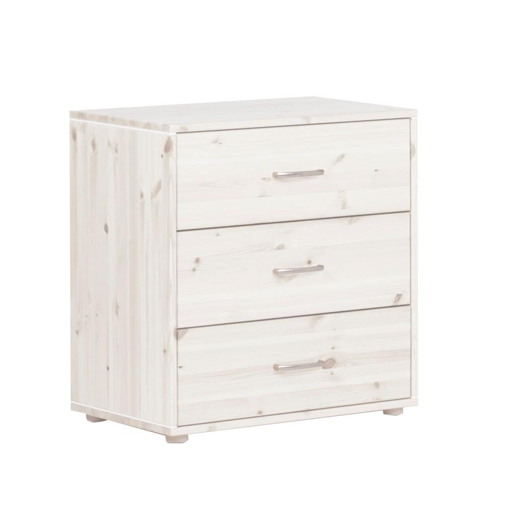 Flexa chest with three drawers white - на 360.ru: цены, описание, характеристики, где купить в Москве.
