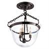 Country Semi-Flush Bell Jar Lantern CHC2109BZ - на 360.ru: цены, описание, характеристики, где купить в Москве.