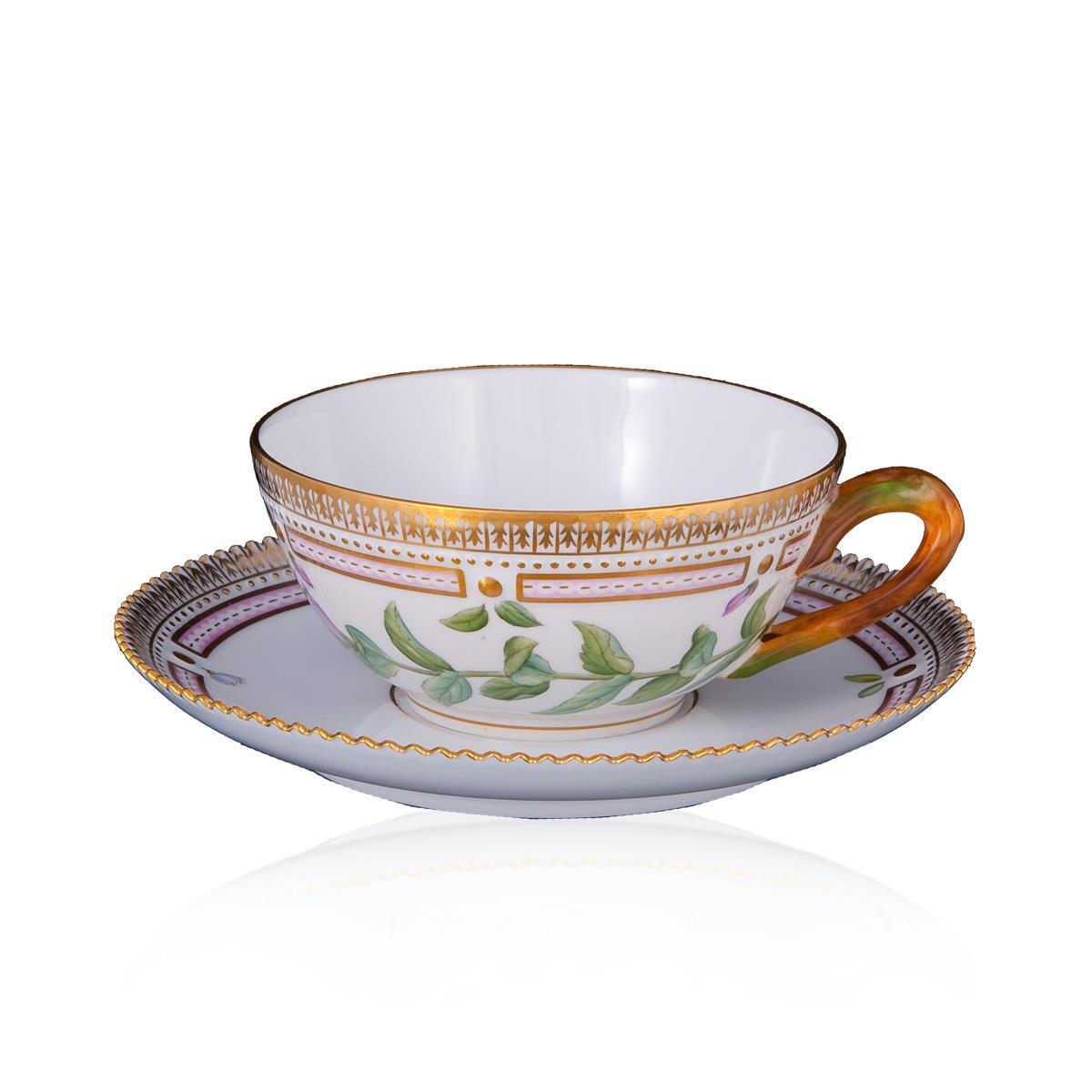 Чашка чайная с блюдцем Flora Danica - на 360.ru: цены, описание, характеристики, где купить в Москве.